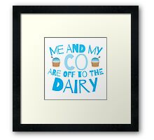 Me and my co are off to the dairy funny New Zealand kiwi saying Framed Print