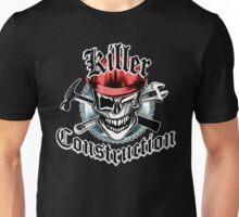 Construction Worker Skull 6 Red: Killer Construction Unisex T-Shirt