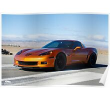 Corvette on Airstrip  Poster