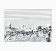 Firenze Italy a bridge over the Arno * Baby Tee