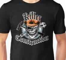 Construction Worker Skull 6 Orange: Killer Construction Unisex T-Shirt