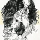 Japanese Chin Father & Son by BarbBarcikKeith