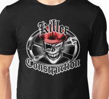 Construction Skull sp red 6: Killer Construction Unisex T-Shirt