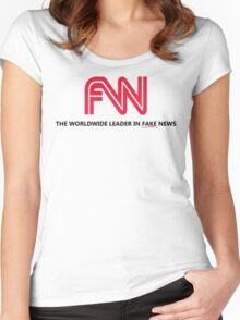 FNN: The Worldwide Leader In Fake News Women's Fitted Scoop T-Shirt