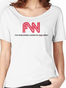 FNN: The Worldwide Leader In Fake News Women's Relaxed Fit T-Shirt