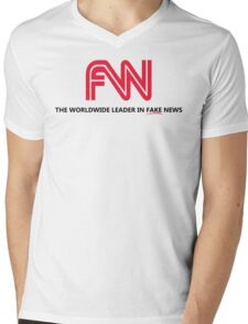 FNN: The Worldwide Leader In Fake News Mens V-Neck T-Shirt