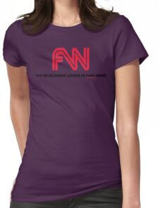 FNN: The Worldwide Leader In Fake News Womens Fitted T-Shirt