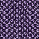 Purple Octopus Pattern by SaradaBoru