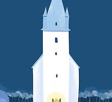 CHRISTMAS CARD NO.1 - CHURCH by onkelbob
