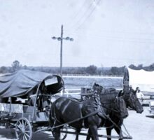 "1954 Marshall County Fair, Fairdealing Wagon ""Pikes Peak or Bust"" Sticker"