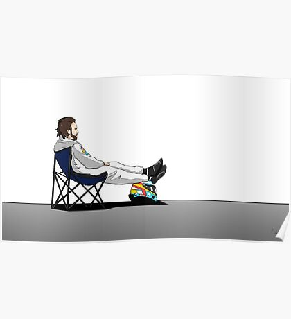 Formula 1 - Fernando Alonso deckchair Poster
