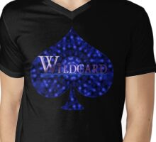 Wildcard Blue Cell Mens V-Neck T-Shirt