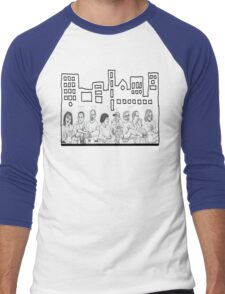 Folks in Community Men's Baseball ¾ T-Shirt