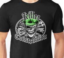 Construction Skull br green 6: Killer Construction Unisex T-Shirt