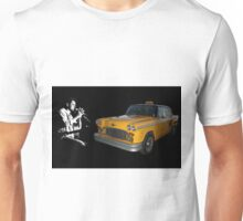 Harry Chapin with Checker Taxi Unisex T-Shirt