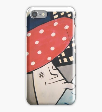 Trippy mushroom on the decks  iPhone Case/Skin