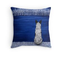 Blue Forest, Starry Sky (Blue Heeler), by Artwork by AK Throw Pillow