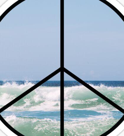 Ocean Wave Peace Sign Sticker