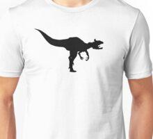 Cryolophosaurus Dinosaur Silhouette (Black) Unisex T-Shirt