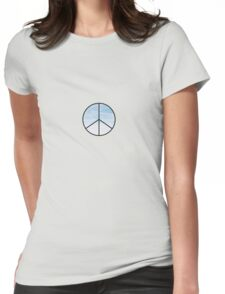 Blue Sky Peace Sign Womens Fitted T-Shirt