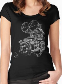 """Shottie"" - Supercharged V8 Engine Women's Fitted Scoop T-Shirt"