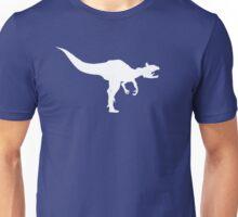 Cryolophosaurus Dinosaur Silhouette (White) Unisex T-Shirt