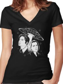 X-Files Women's Fitted V-Neck T-Shirt