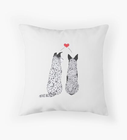 Puppy Love, by Artwork by AK Throw Pillow