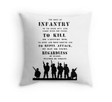 Role of Infantry Throw Pillow