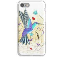 Hummingbird in Garden iPhone Case/Skin