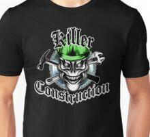 Construction Skull 1 green: Killer Construction Unisex T-Shirt