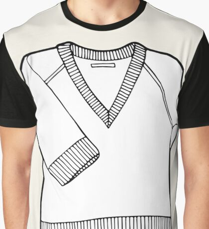 Black & white pullover Graphic T-Shirt