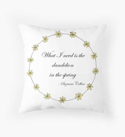 The Hunger Games- Dandelion Throw Pillow
