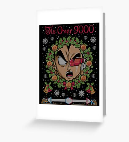 Tis Over 9000 Greeting Card