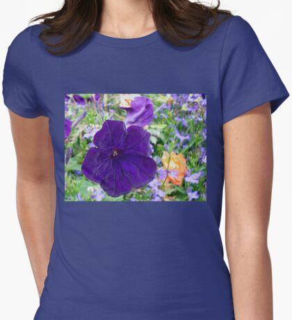 Valvety Rich Purple Petunia Womens Fitted T-Shirt