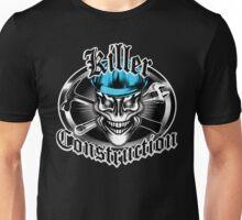 Construction Skull 1.1 blue: Killer Construction Unisex T-Shirt