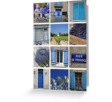 Collage Bleu de Provence by ProvenceProvence Greeting Card