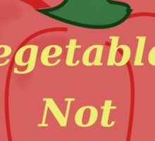 Vegetables, Not Guns Sticker