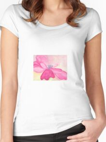 Pretty but Poisonous Windflower Women's Fitted Scoop T-Shirt
