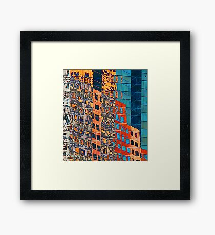 Cityscape Abstract Framed Print
