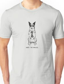 Heed the Heeler (Black Ink), by Artwork by AK Unisex T-Shirt
