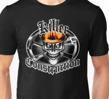 Construction Skull 1.1 orange: Killer Construction Unisex T-Shirt