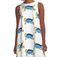 Ahoy! A-Line Dress
