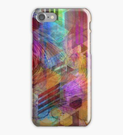 Magnetic Abstraction (Square Version) - By John Robert Beck iPhone Case/Skin