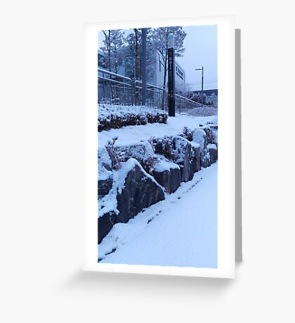 Winter time in Suwon, by Simon Williams-Im Greeting Card