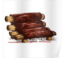 Glitch furniture armchair baby back bbq ribs armchair Poster