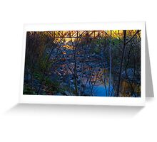 Bridge over tranquil water Greeting Card