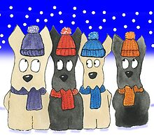 Scottie Dogs 'Let It Snow' by archyscottie