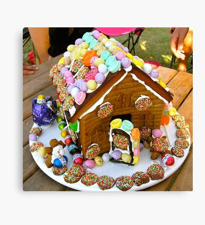 Easter Gingerbread House Canvas Print