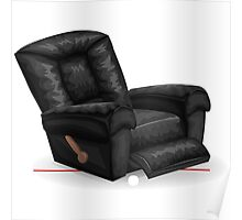Glitch furniture armchair black leather lazy armchair Poster